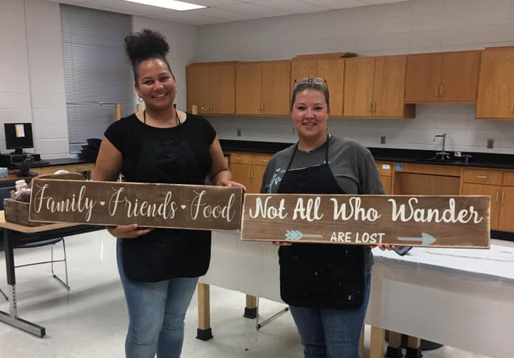 DIY Rustic Sign (Waldorf Senior & Recreational Center)